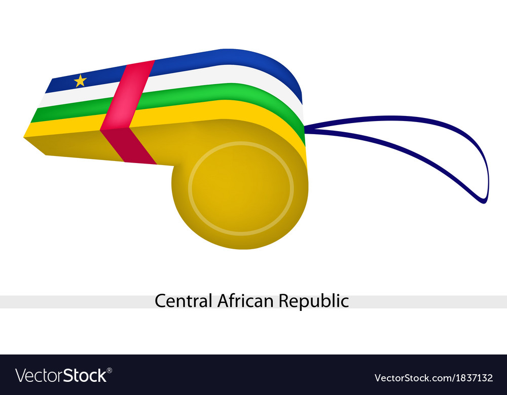 A whistle of central african republic flag vector | Price: 1 Credit (USD $1)