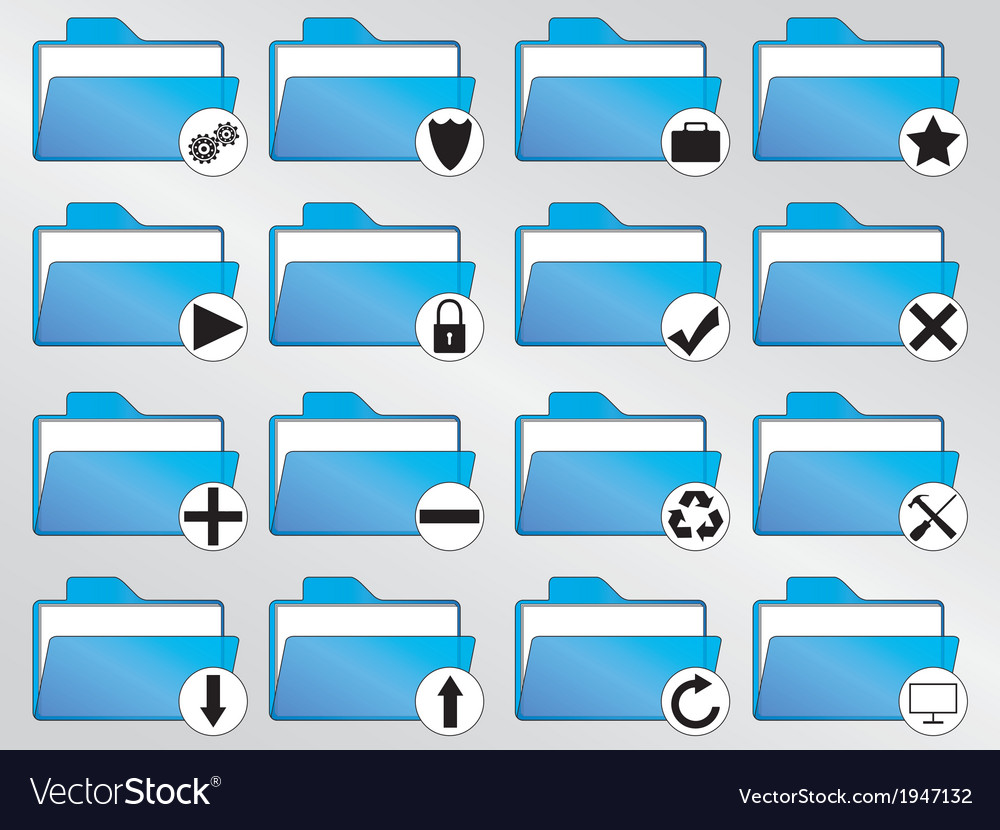 Blue folders vector | Price: 1 Credit (USD $1)