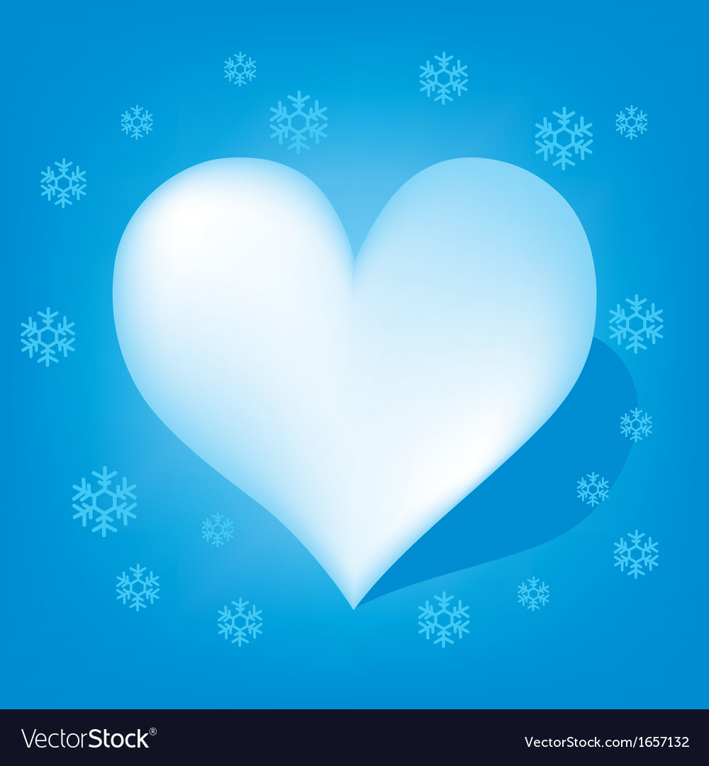 Blue heart with koch snowflake vector | Price: 1 Credit (USD $1)