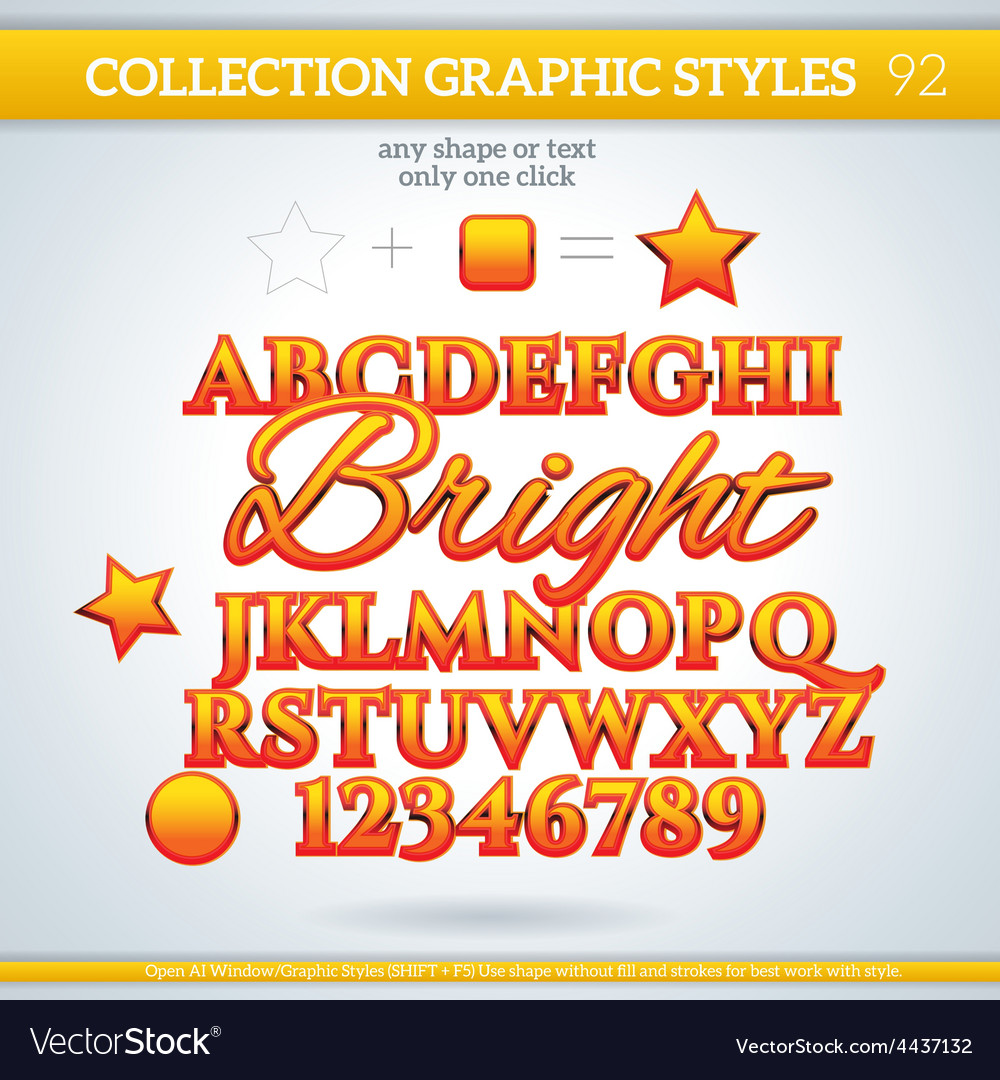Bright graphic styles for design use for decor vector | Price: 1 Credit (USD $1)