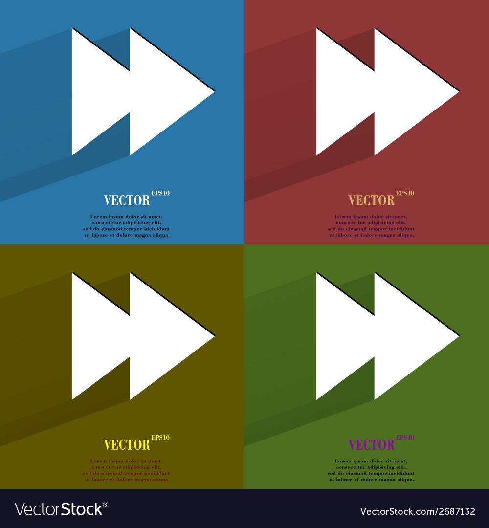 Color set multimedia control flat modern web vector | Price: 1 Credit (USD $1)