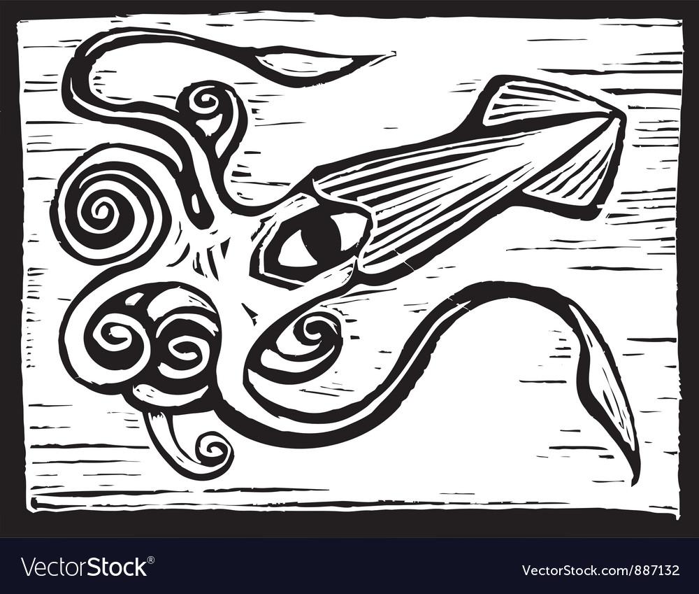 Giant squid vector | Price: 1 Credit (USD $1)