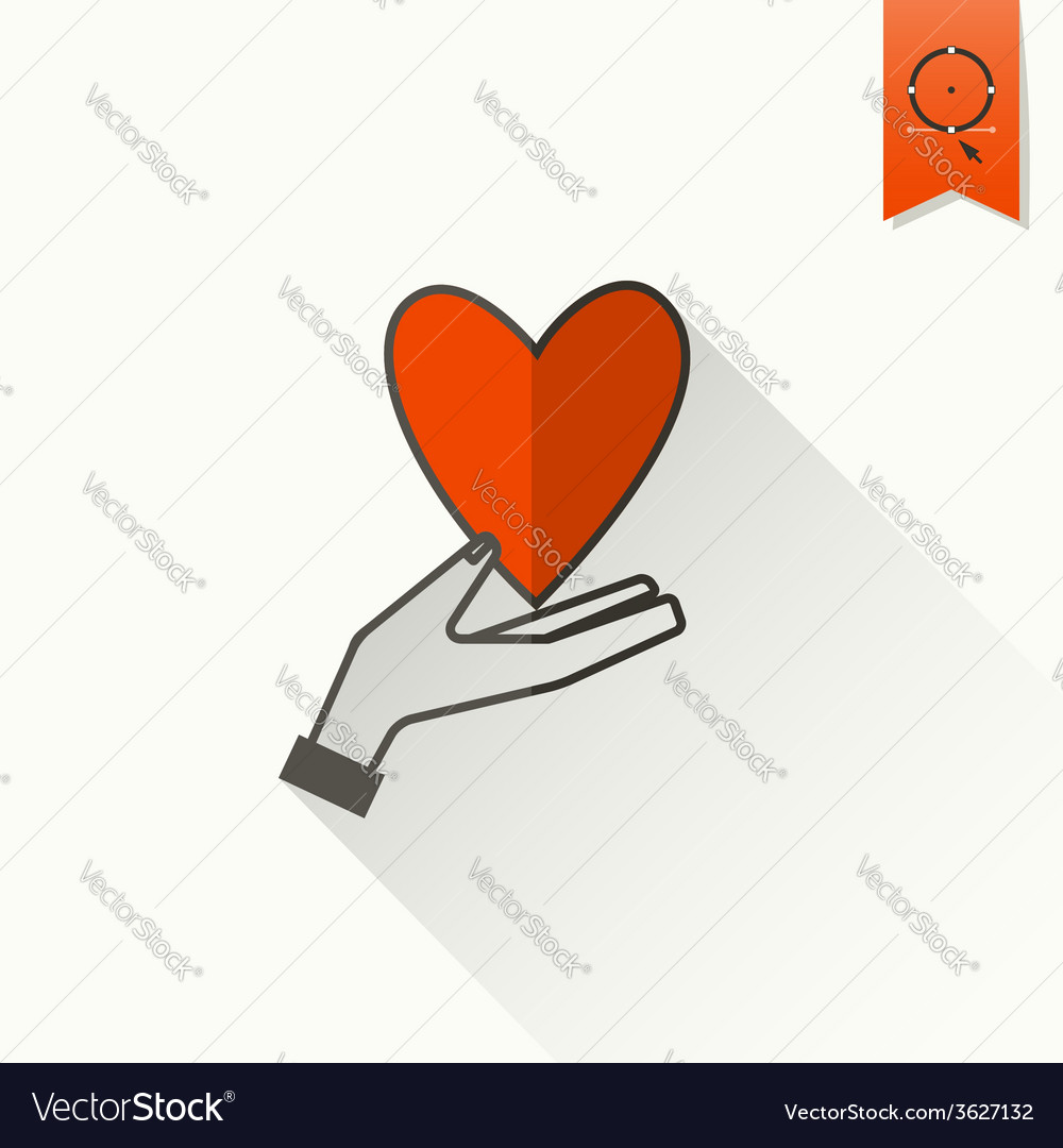 Happy valentines day icon vector | Price: 1 Credit (USD $1)