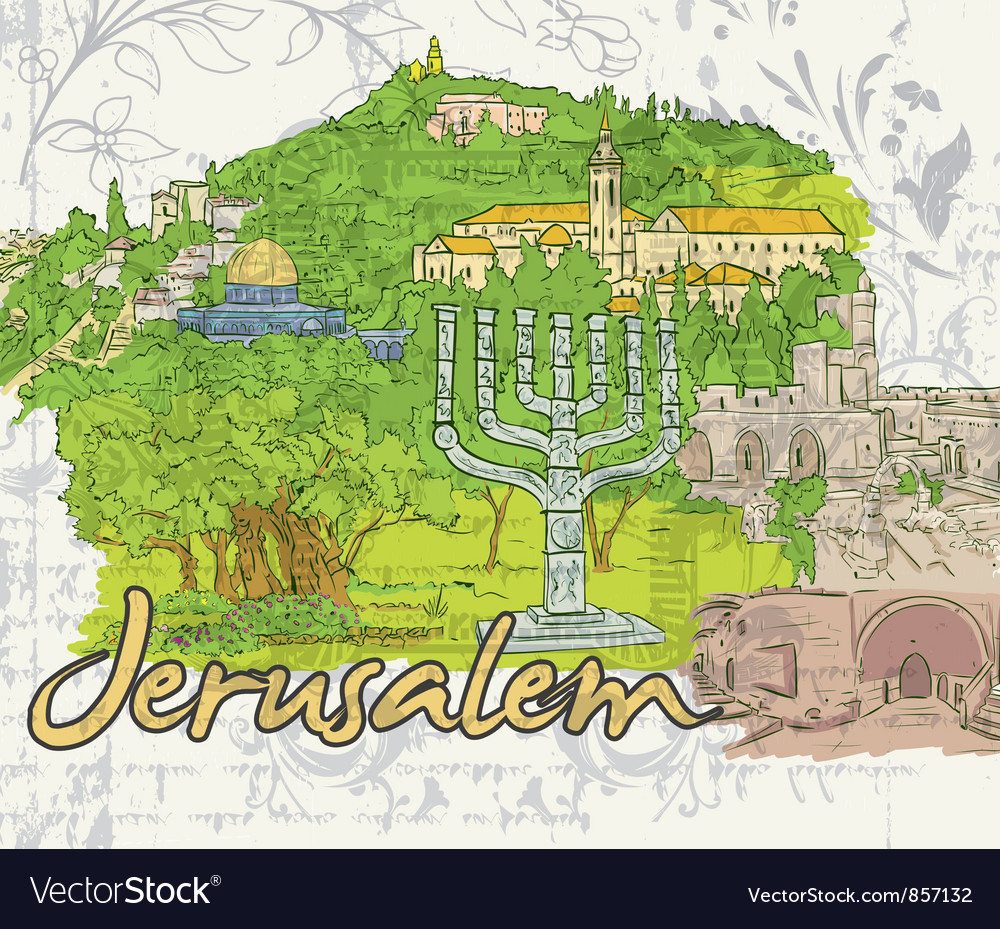 Jerusalem doodles vector | Price: 1 Credit (USD $1)