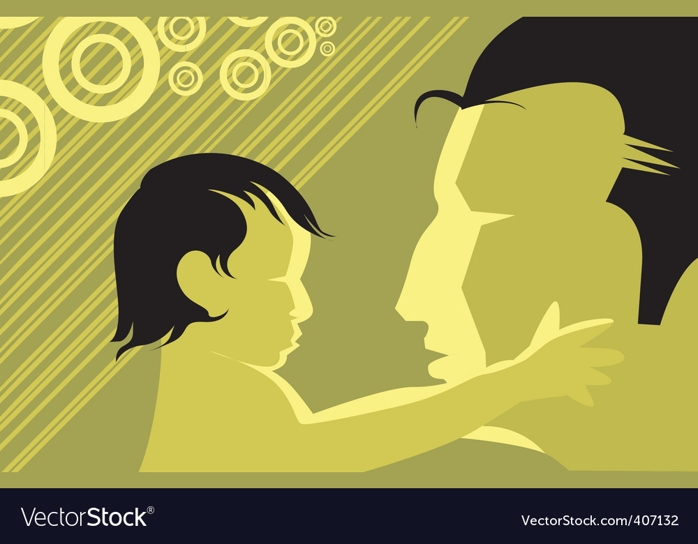 Kid and man vector   Price: 1 Credit (USD $1)
