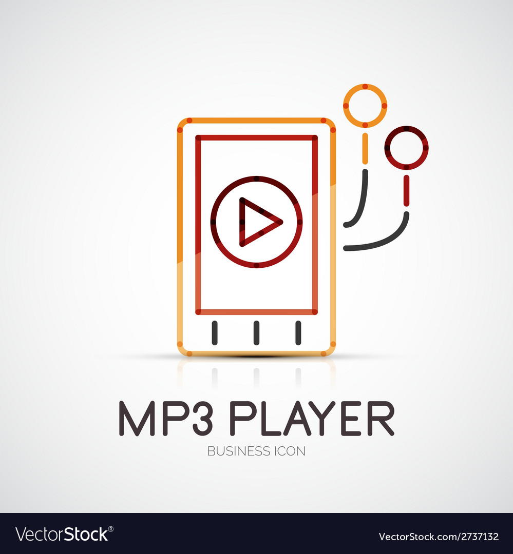 Mp3 player company logo business concept vector | Price: 1 Credit (USD $1)
