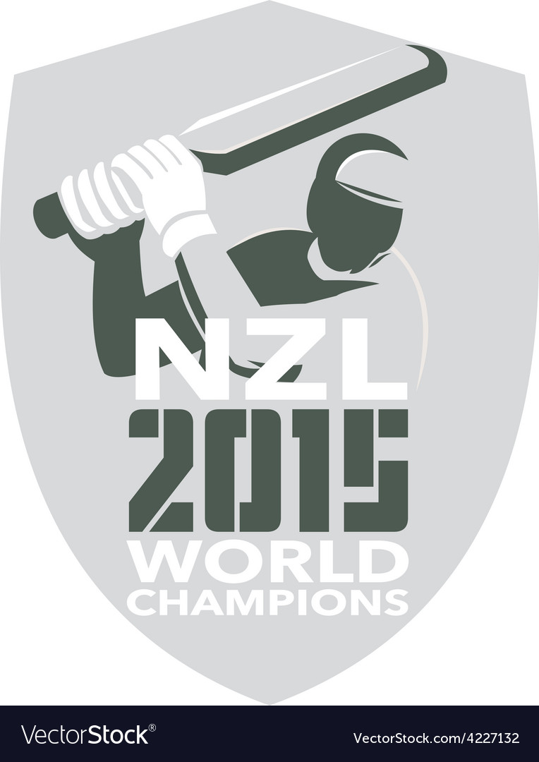New zealand cricket 2015 world champions shield vector | Price: 1 Credit (USD $1)
