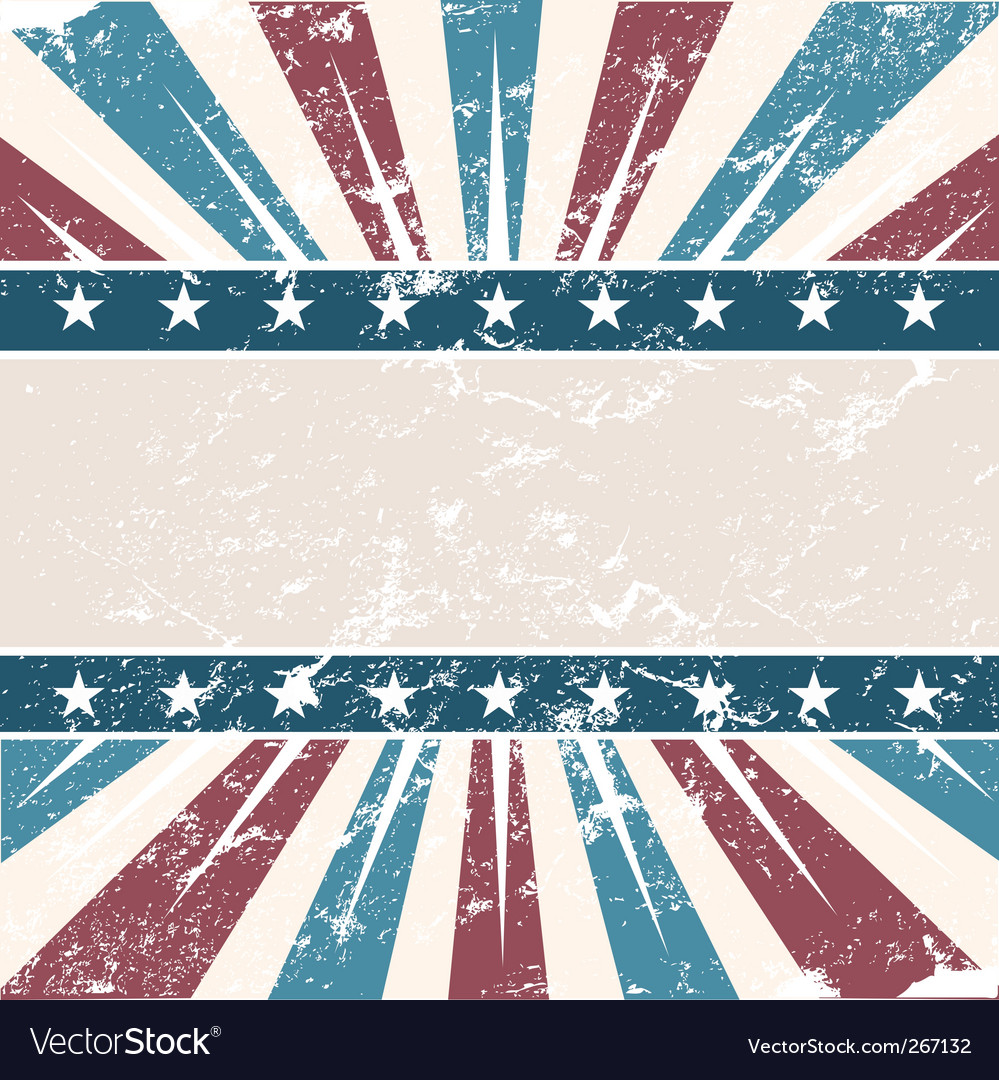 Old usa colors frame grunge vector | Price: 1 Credit (USD $1)