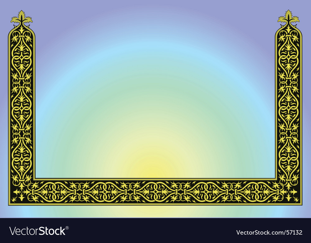 Ornament border background vector | Price: 1 Credit (USD $1)