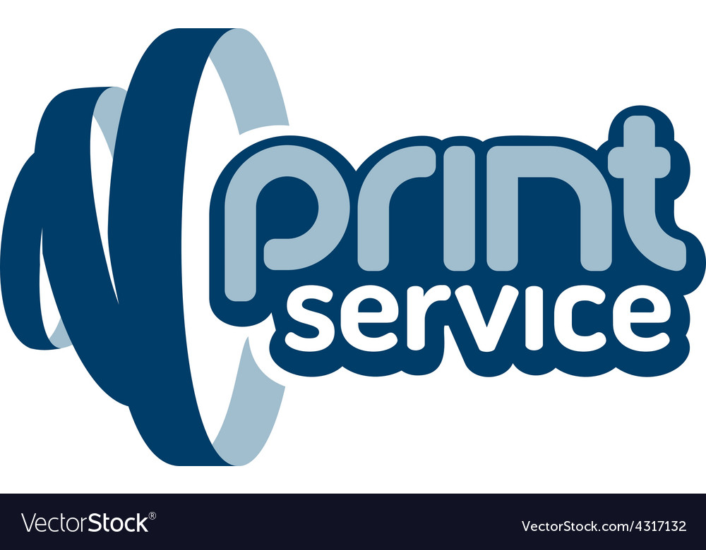 Print service logo vector | Price: 1 Credit (USD $1)