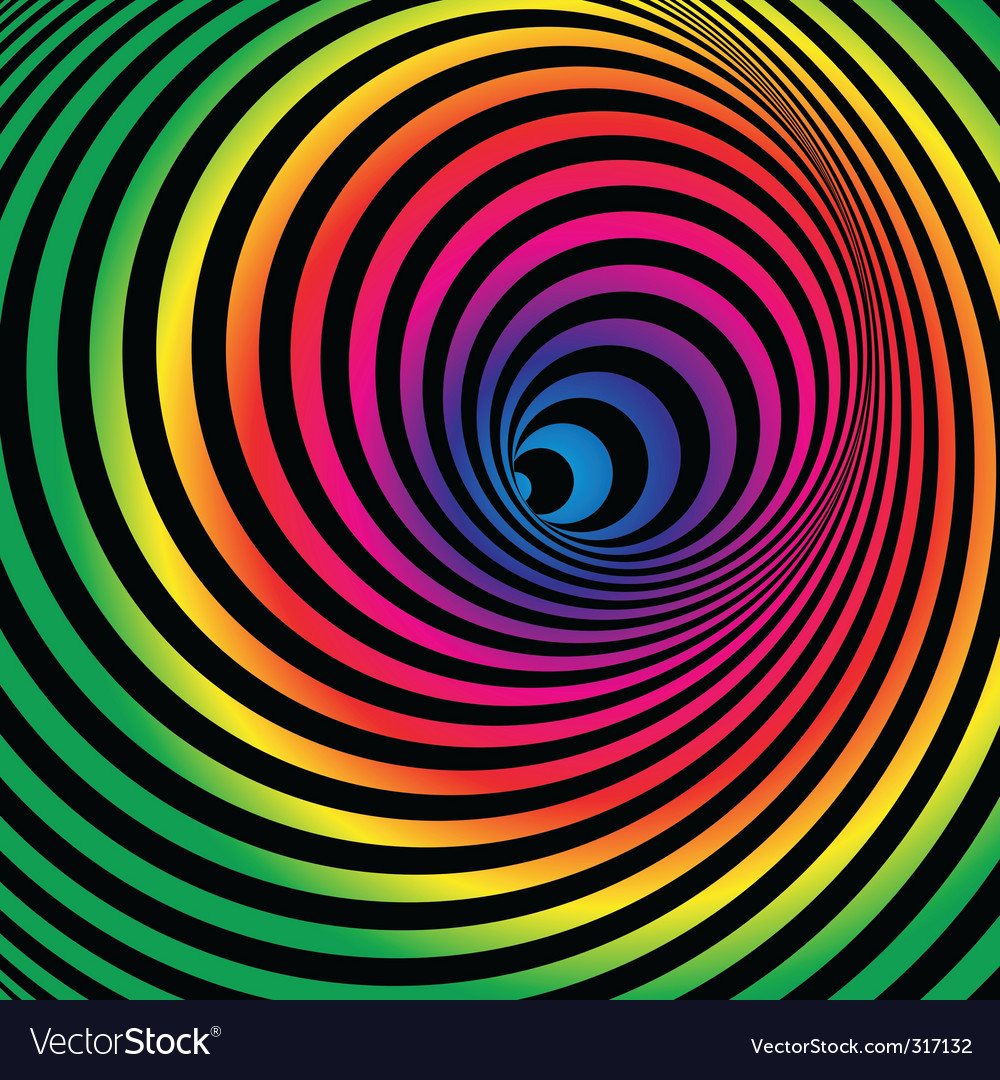 Rainbow tunnel vector | Price: 1 Credit (USD $1)