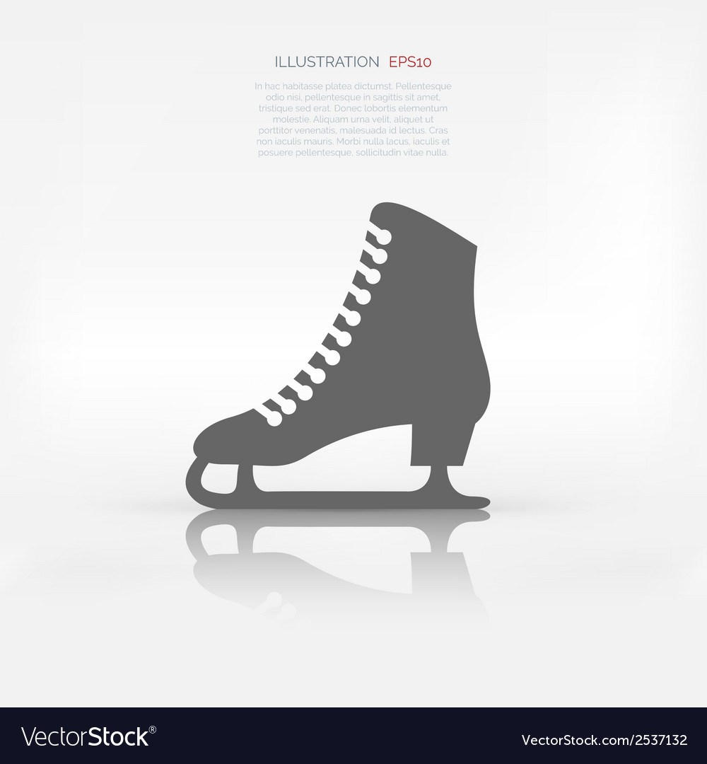 Skate web icon vector | Price: 1 Credit (USD $1)