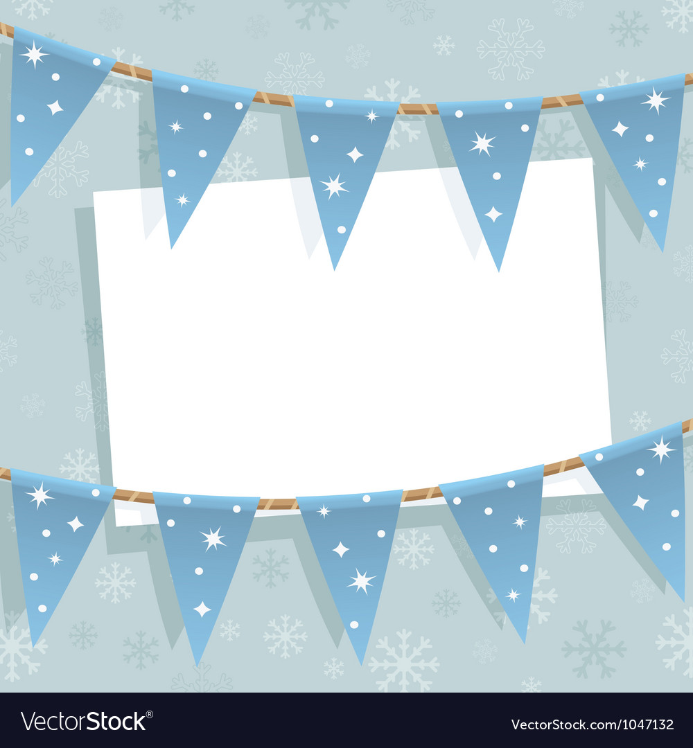 Winter bunting decoration vector | Price: 1 Credit (USD $1)