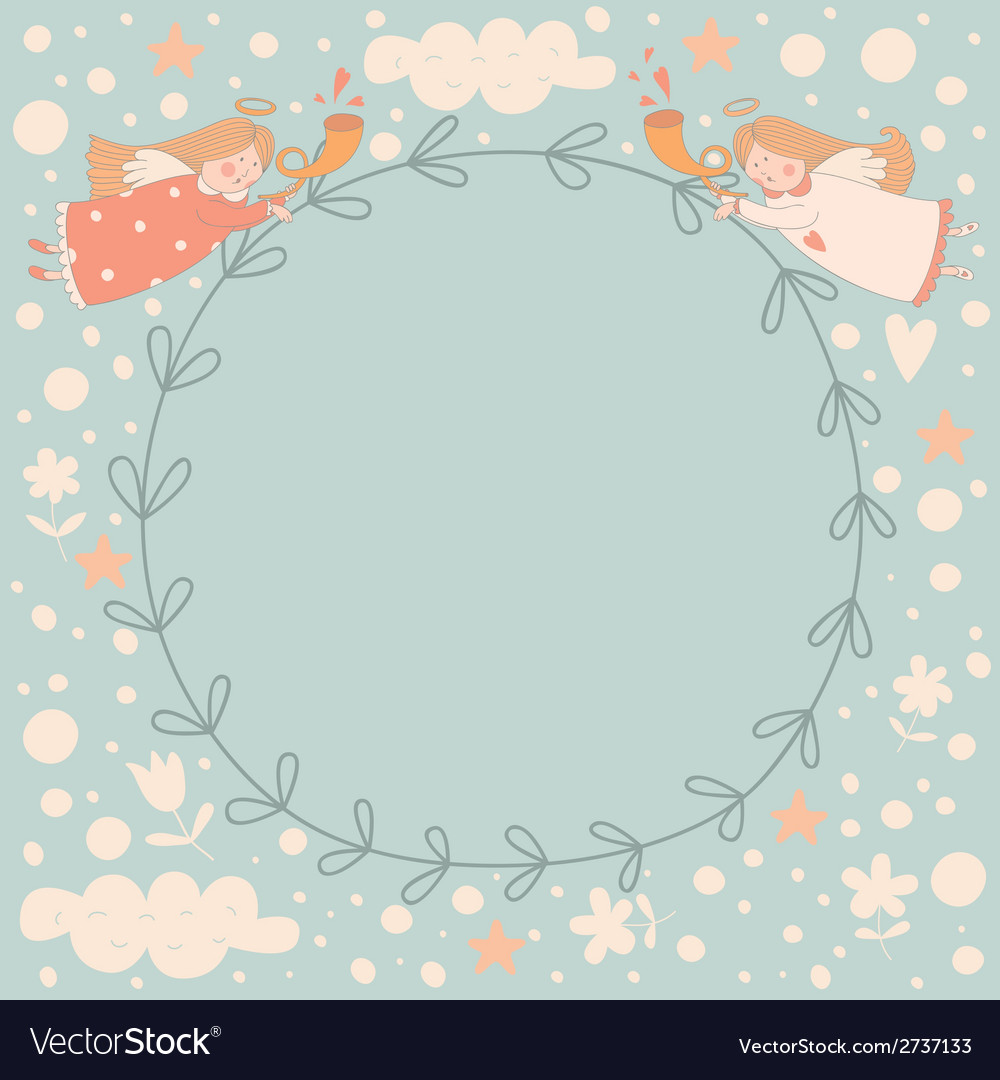Angels wreath vector | Price: 1 Credit (USD $1)