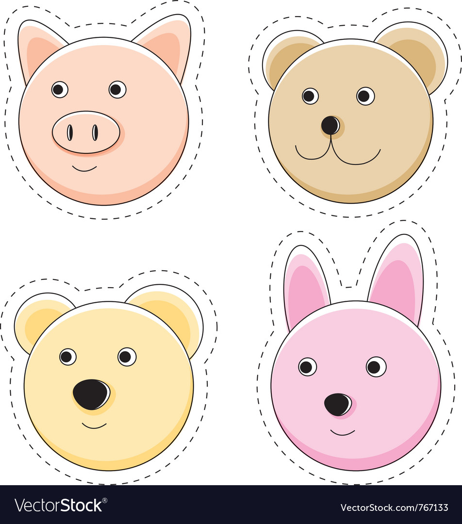 Animal stickers vector | Price: 1 Credit (USD $1)