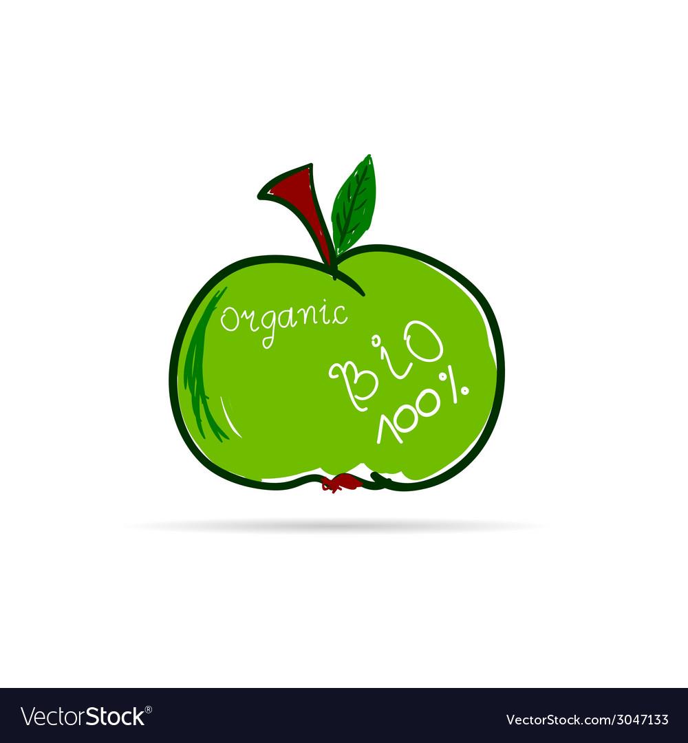 Apple organic vector | Price: 1 Credit (USD $1)