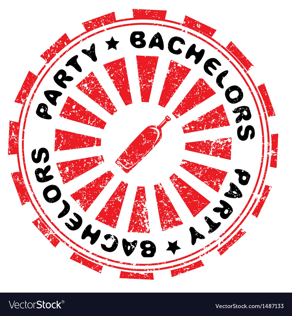 Bachelors party stamp vector   Price: 1 Credit (USD $1)