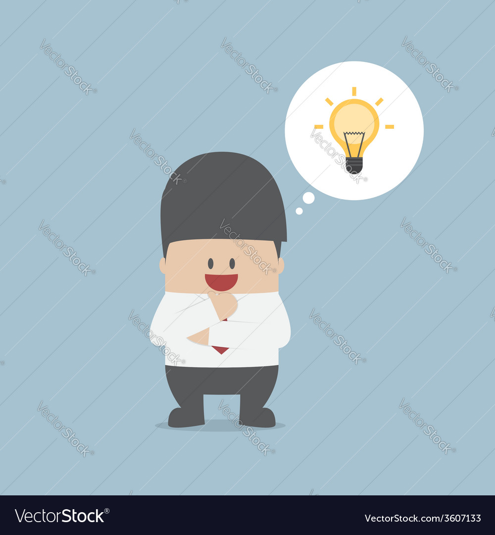 Businessman thinking and have a great idea vector | Price: 1 Credit (USD $1)
