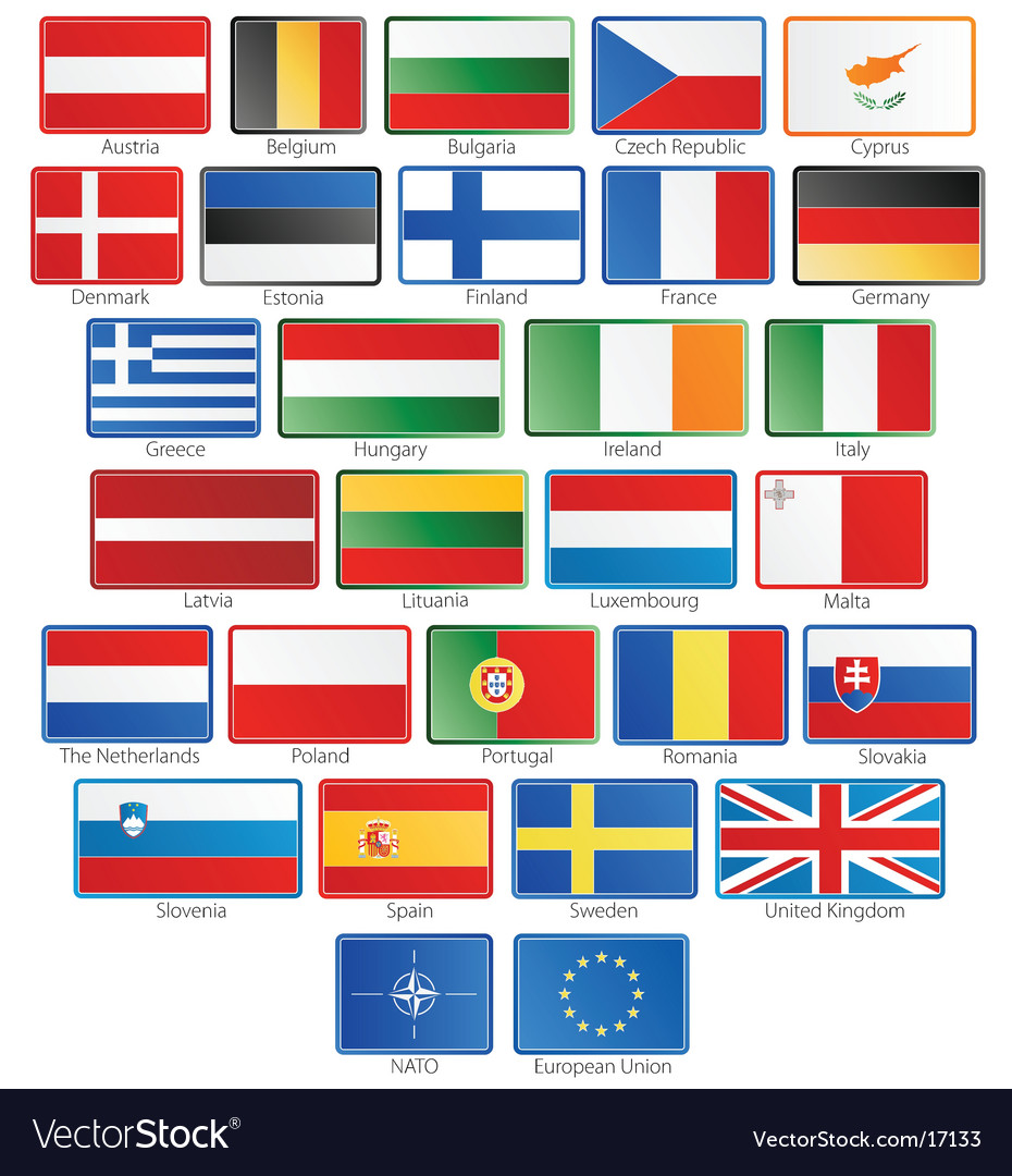 European flags vector | Price: 1 Credit (USD $1)