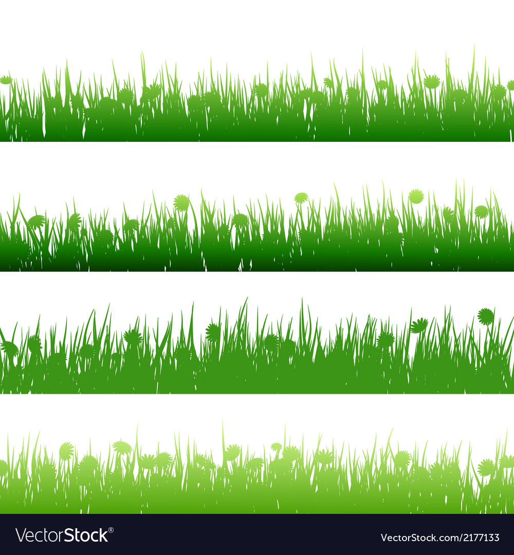 Grass and plants detailed silhouettes eps 10 vector | Price: 1 Credit (USD $1)