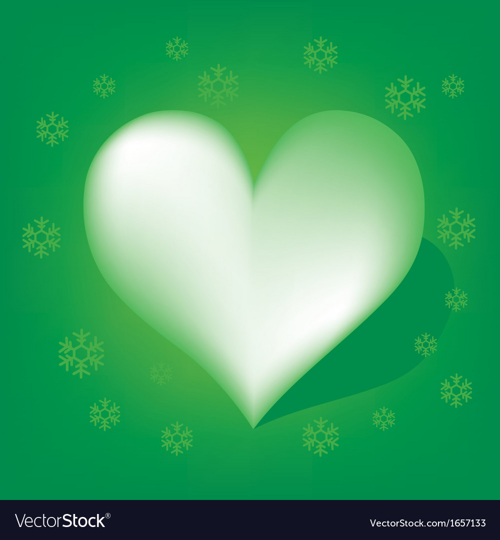 Green heart with koch snowflake vector | Price: 1 Credit (USD $1)