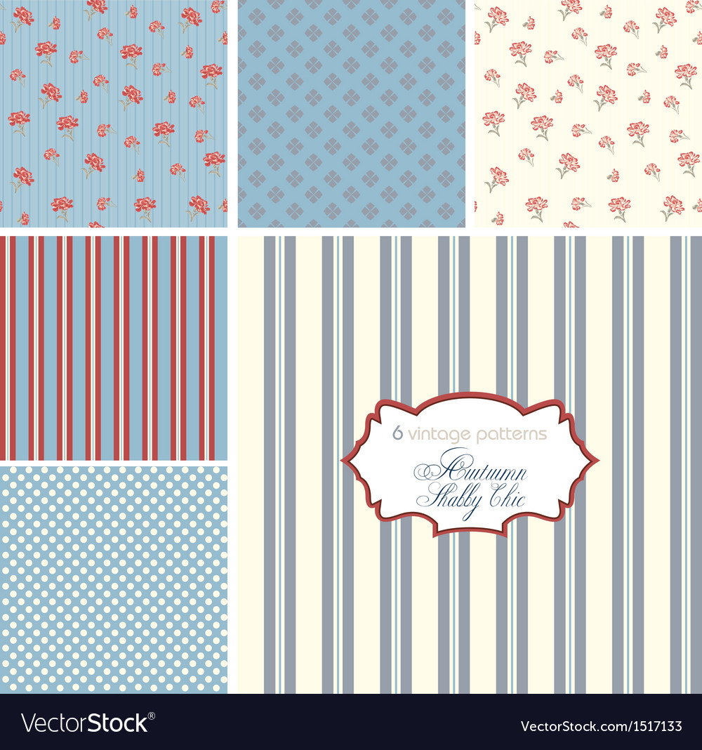 Shabby chic patterns set vector | Price: 1 Credit (USD $1)