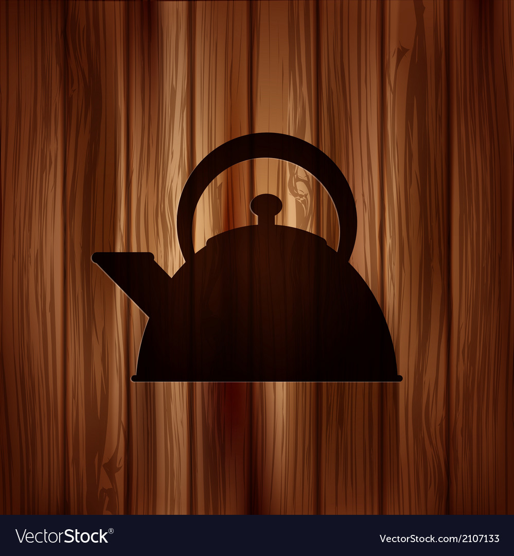 Teapot icon coffee pot symbol vector | Price: 1 Credit (USD $1)