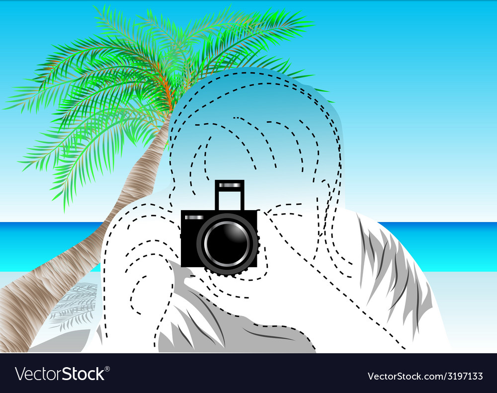 Travel photographer vector | Price: 1 Credit (USD $1)