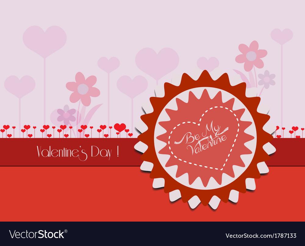 Valentine card flower vector | Price: 1 Credit (USD $1)