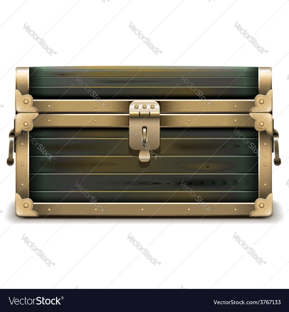 Wooden chest vector | Price: 3 Credit (USD $3)