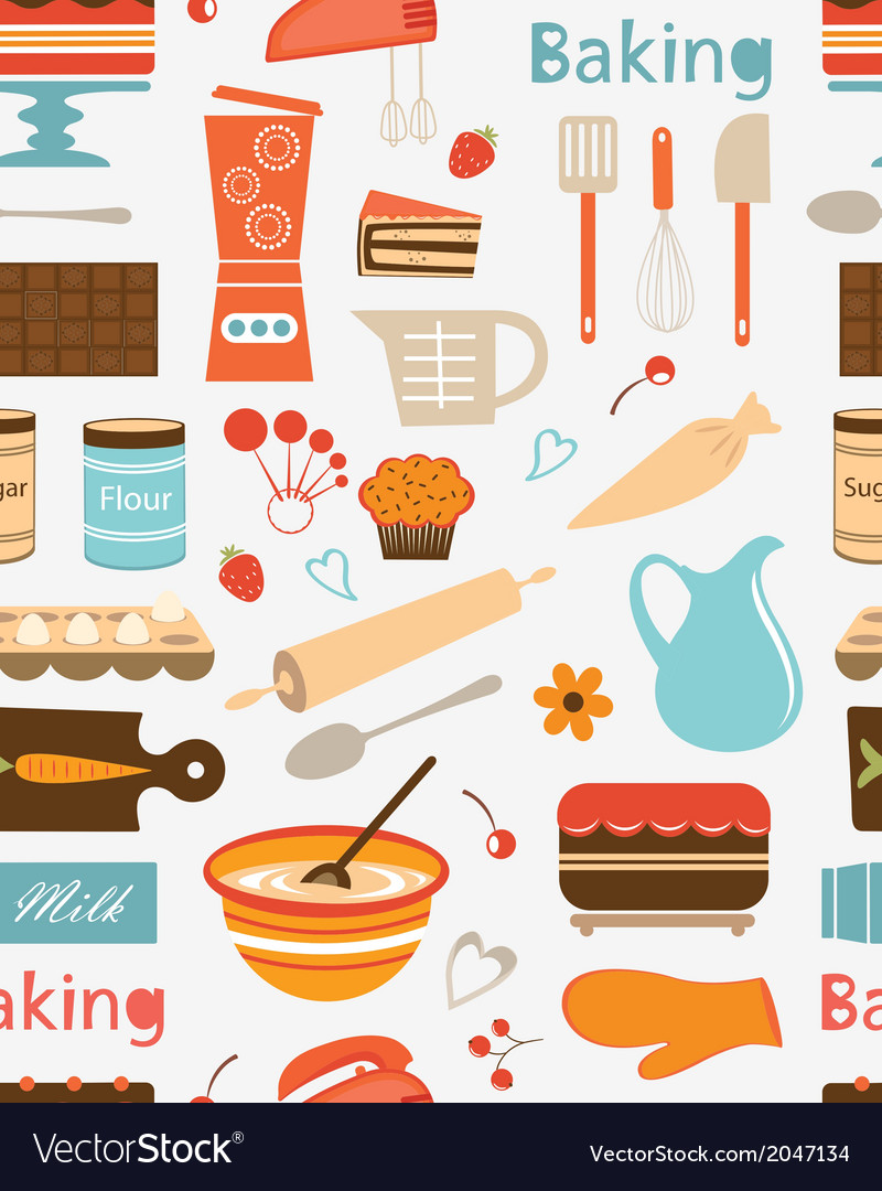 Baking seamless pattern vector | Price: 1 Credit (USD $1)