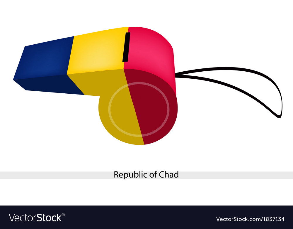 Blue yellow and red stripe on chad whistle vector | Price: 1 Credit (USD $1)