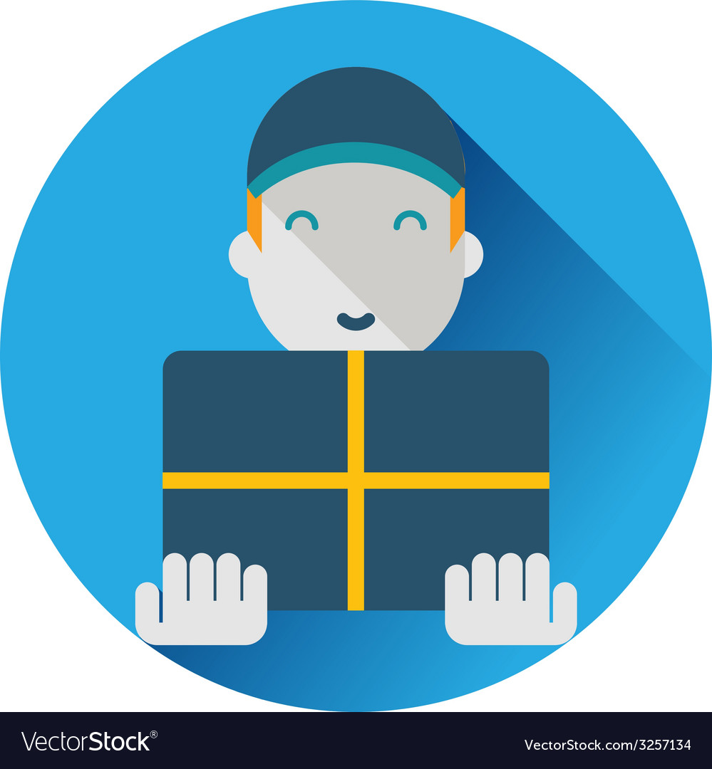 Delivery worker vector | Price: 1 Credit (USD $1)