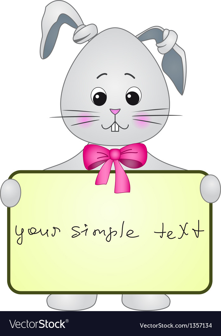 Rabbit with the poster vector | Price: 1 Credit (USD $1)