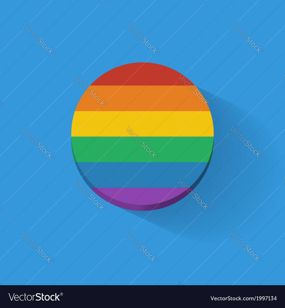 Round icon with rainbow flag vector | Price: 1 Credit (USD $1)
