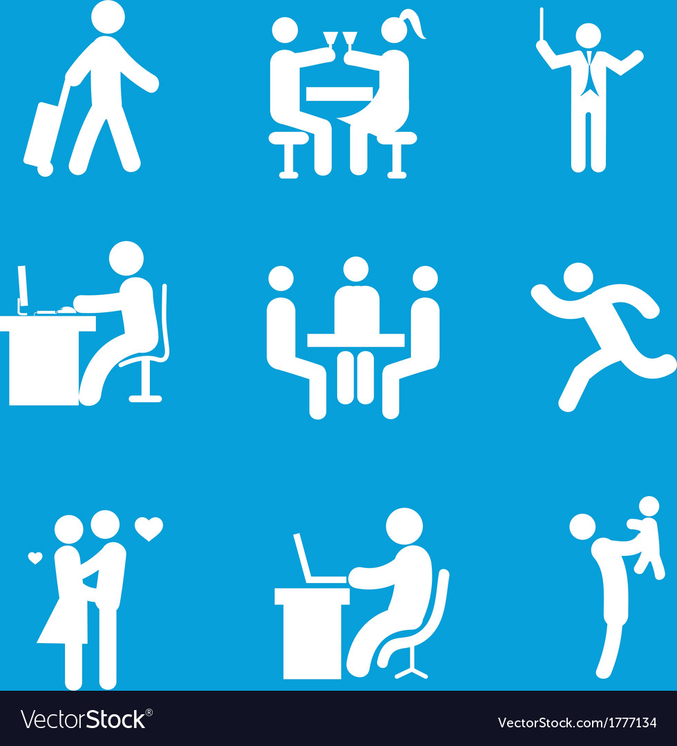 Set of people 1 vector | Price: 1 Credit (USD $1)