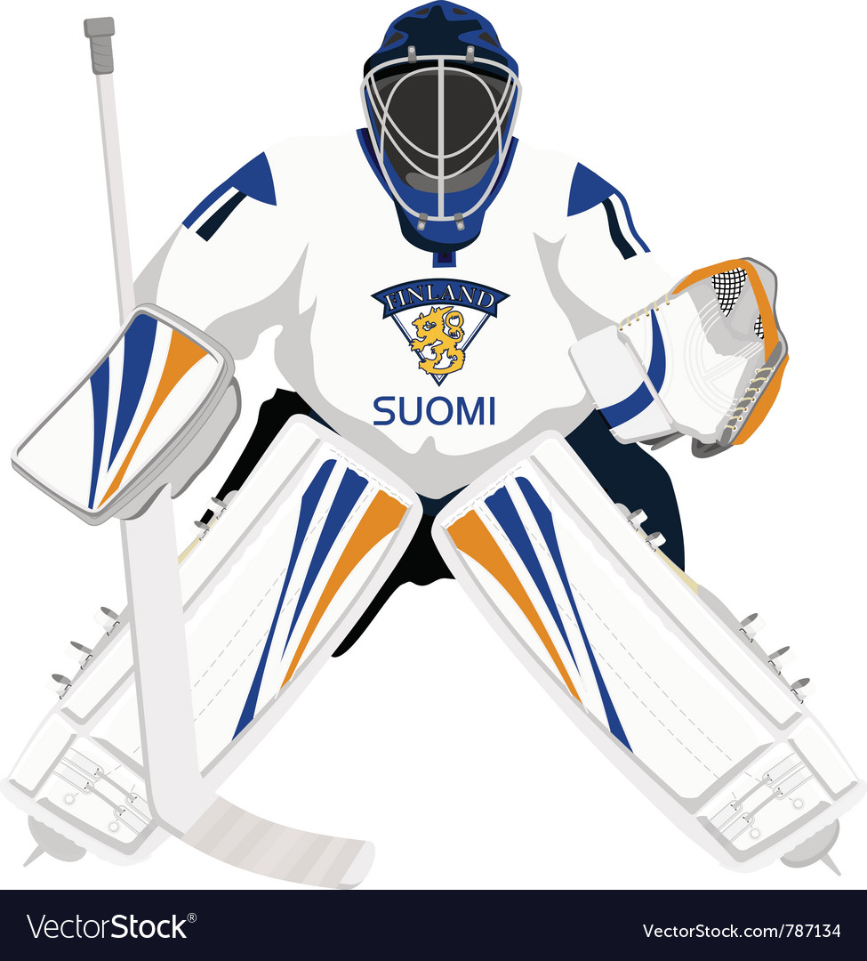Team finland hockey goalie vector | Price: 1 Credit (USD $1)