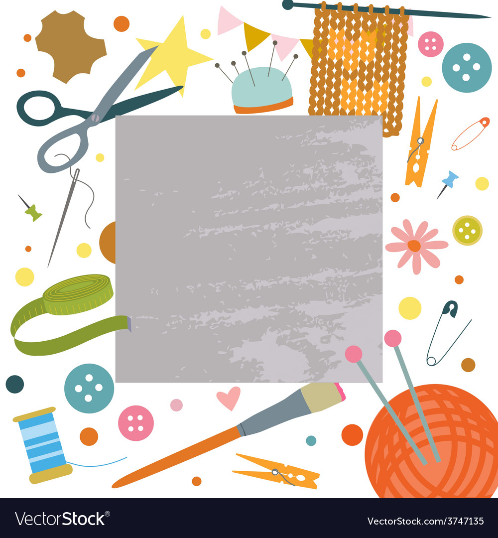 Backgroung with hobby tools vector | Price: 1 Credit (USD $1)