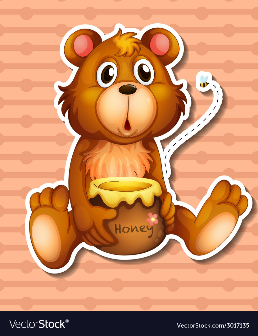Bear and honey vector | Price: 1 Credit (USD $1)