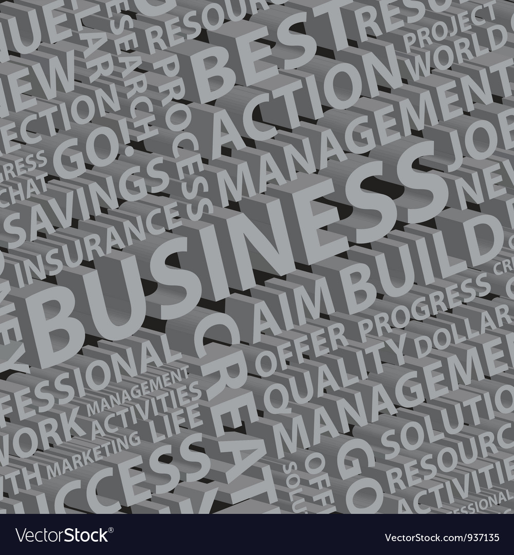 Business words typography vector | Price: 1 Credit (USD $1)
