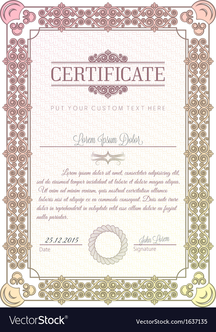 Certificate diploma vector | Price: 1 Credit (USD $1)