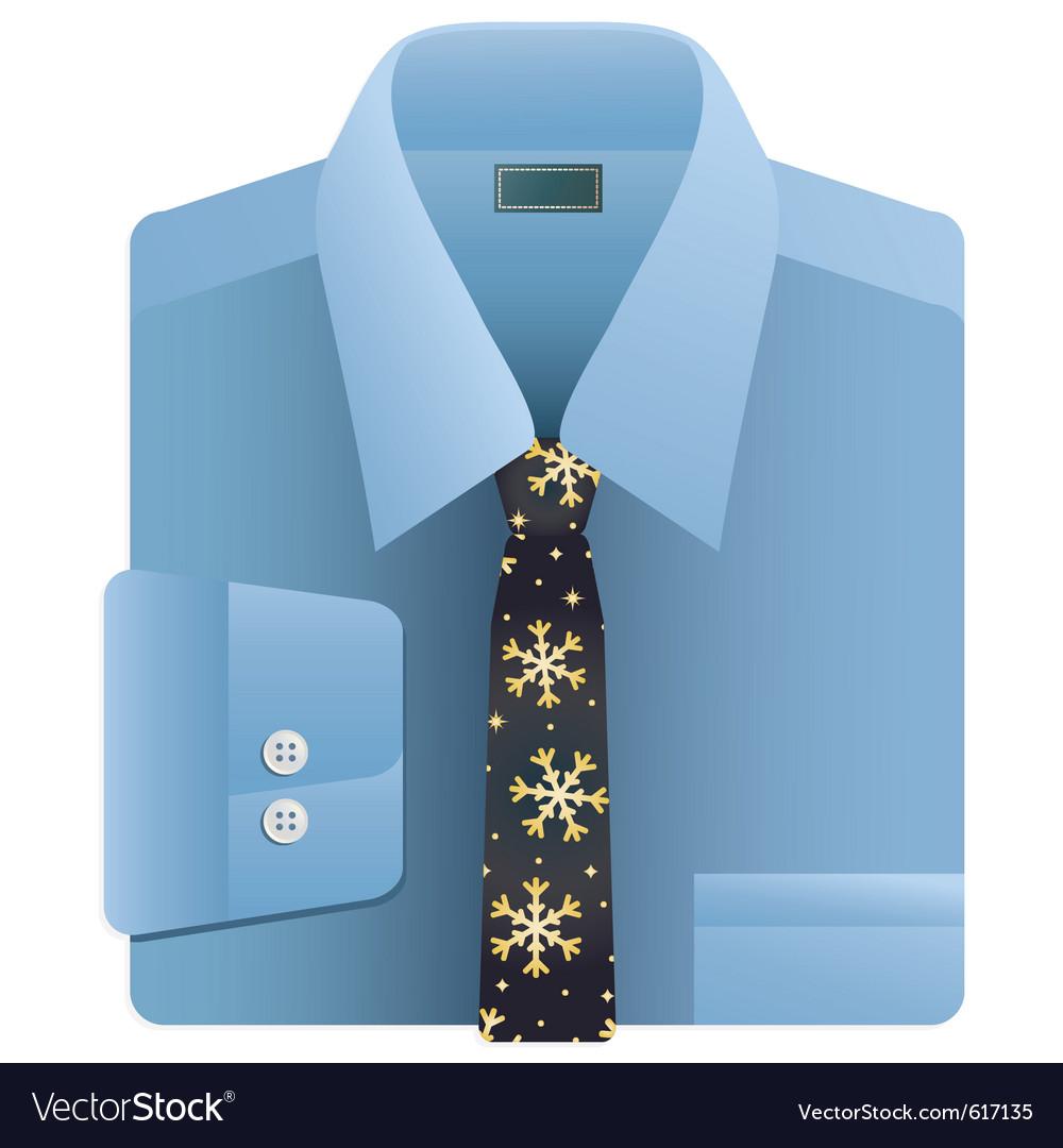 Christmas snowflake tie vector | Price: 1 Credit (USD $1)