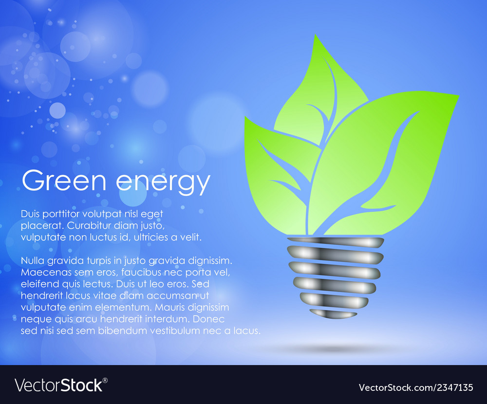 Concept of clean green energy vector | Price: 1 Credit (USD $1)