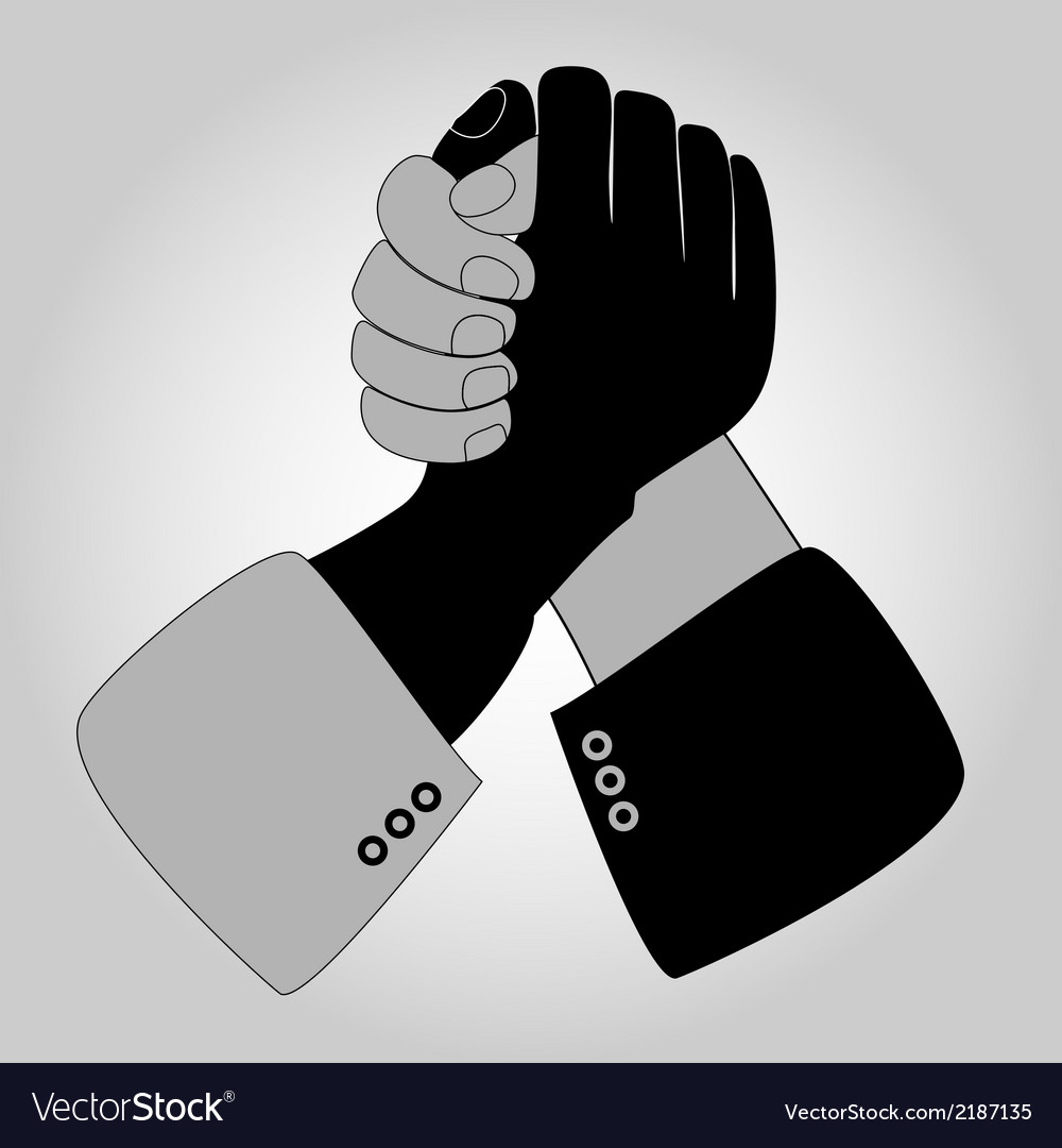 Handshake blue shaking hands vector | Price: 1 Credit (USD $1)