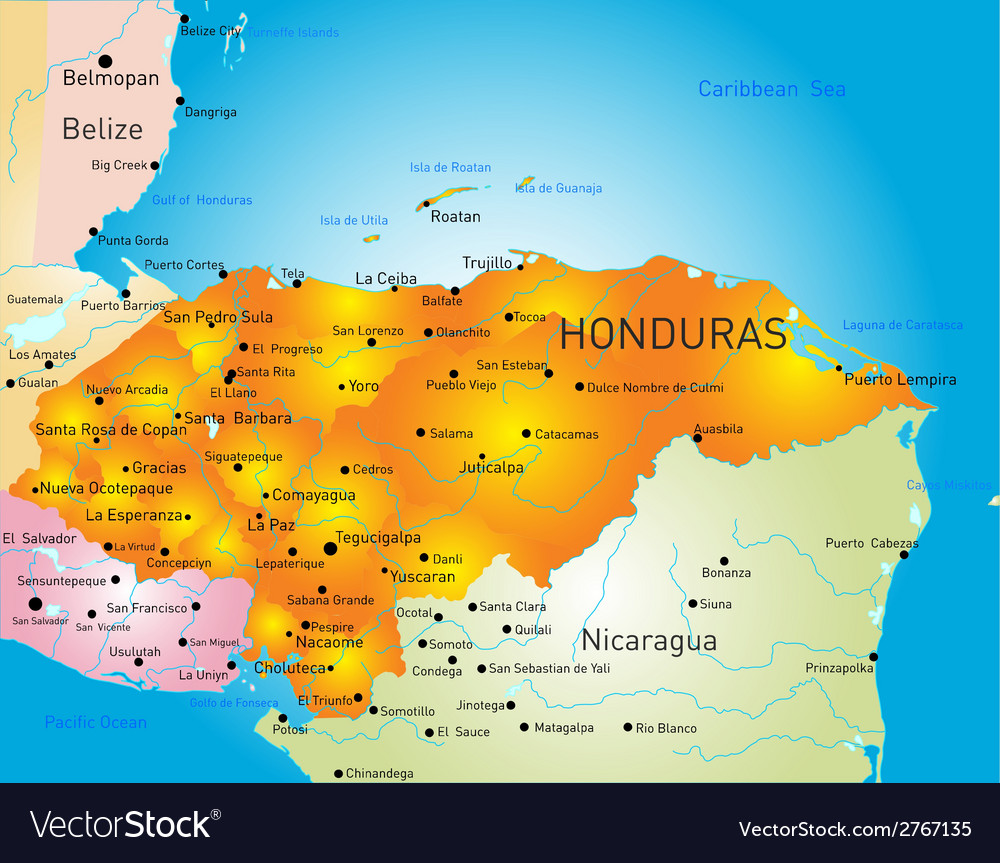 Honduras vector | Price: 1 Credit (USD $1)