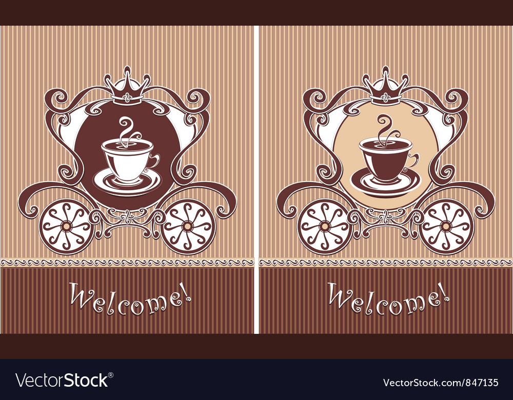 Royal cup of coffee vector | Price: 1 Credit (USD $1)