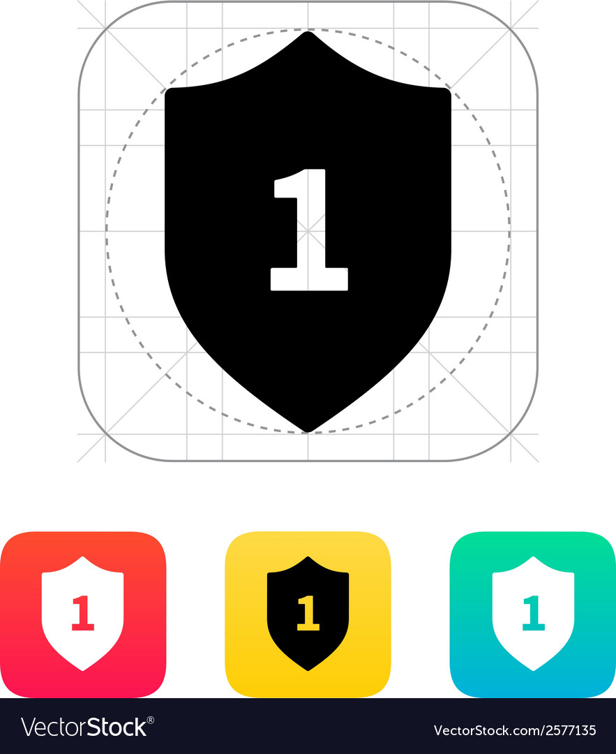 Shield trophy icon vector | Price: 1 Credit (USD $1)