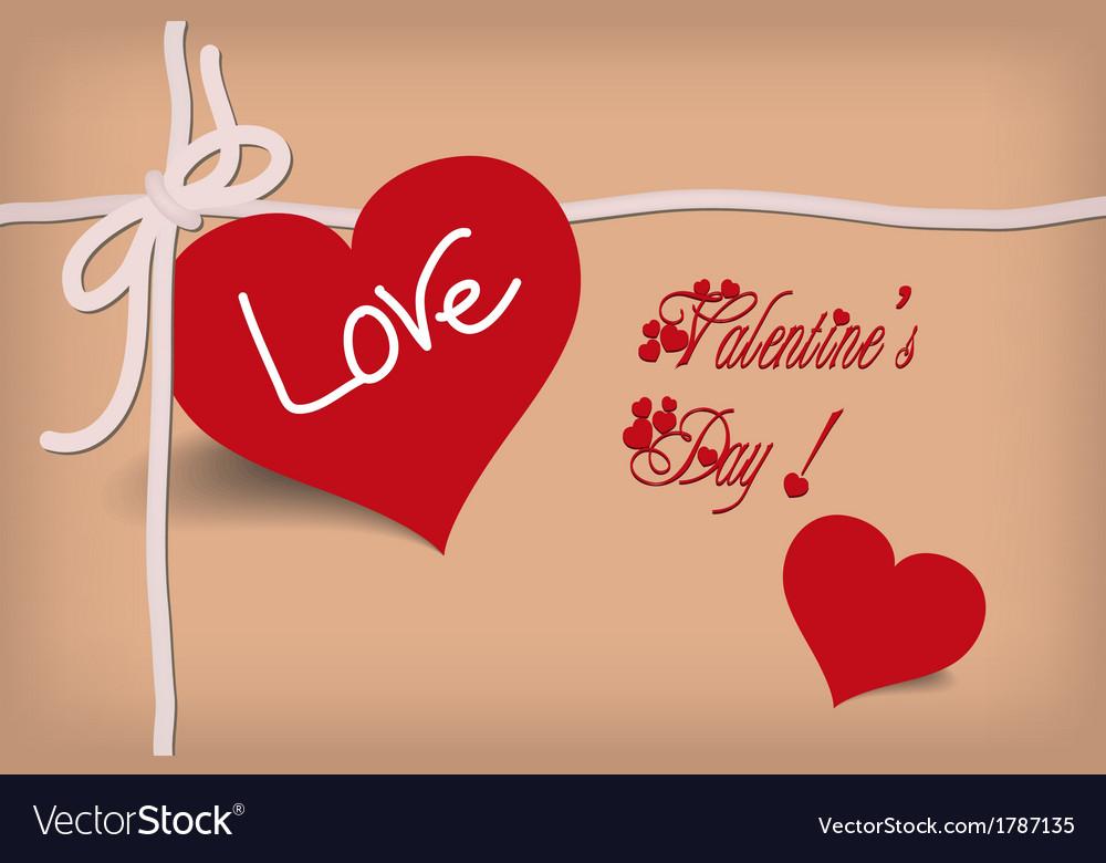 Valentine card retro vector | Price: 1 Credit (USD $1)