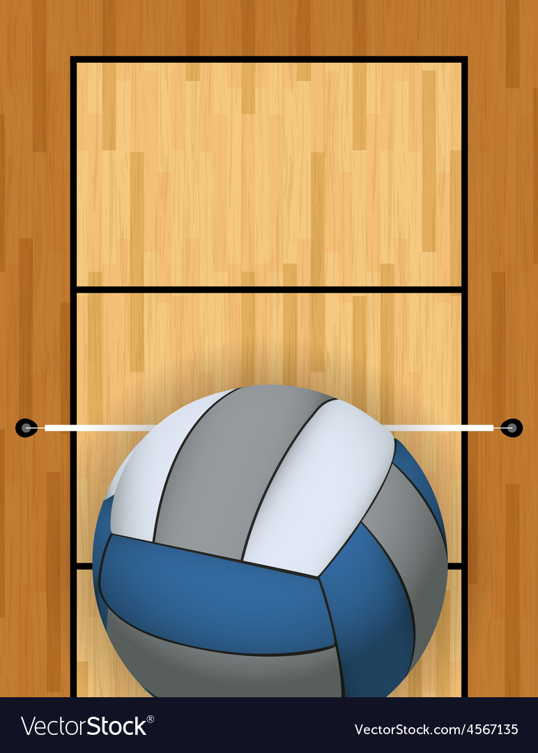 Volleyball and volleyball court vector | Price: 1 Credit (USD $1)