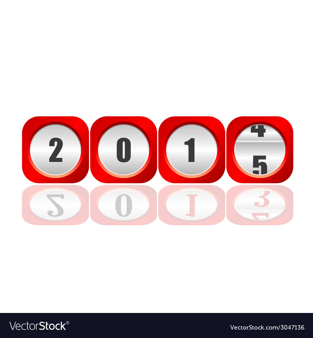 2015 counter for new year vector | Price: 1 Credit (USD $1)